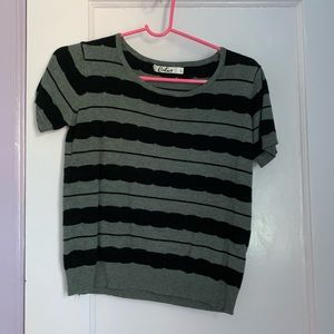 Calico Grey and Black Blouse